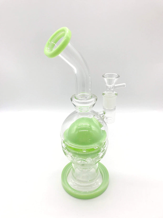 Smoke Station Water Pipe Faberge egg rig with a showerhead perc