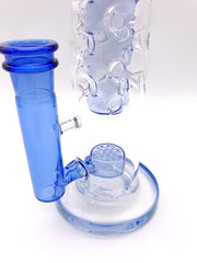 Smoke Station Water Pipe Blue-Clear Flower of Life Full Fab Water Pipe