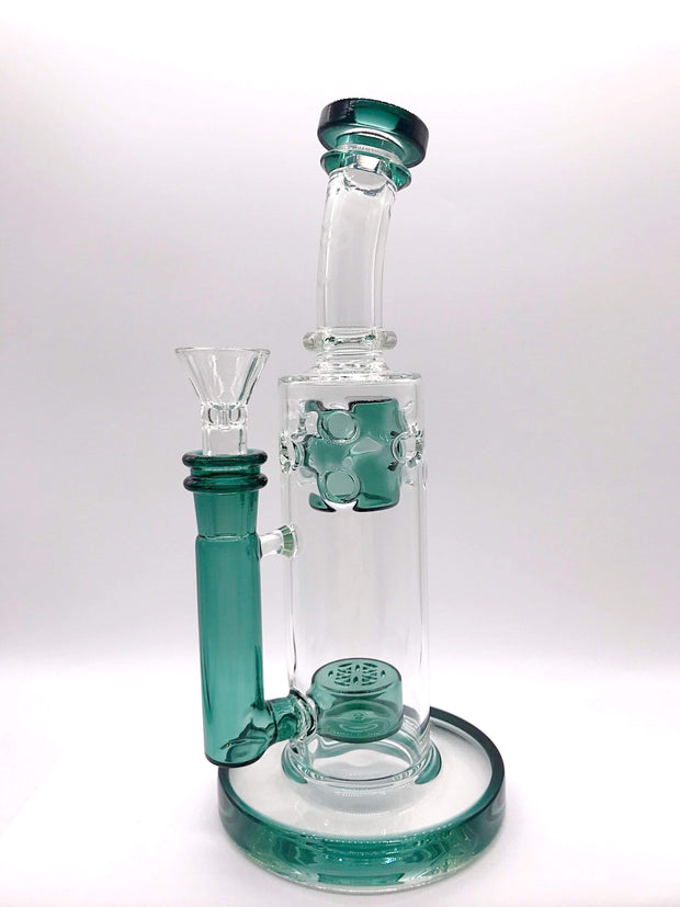 Smoke Station Water Pipe Emerald Flower of Life Mini-Fab Water Pipe
