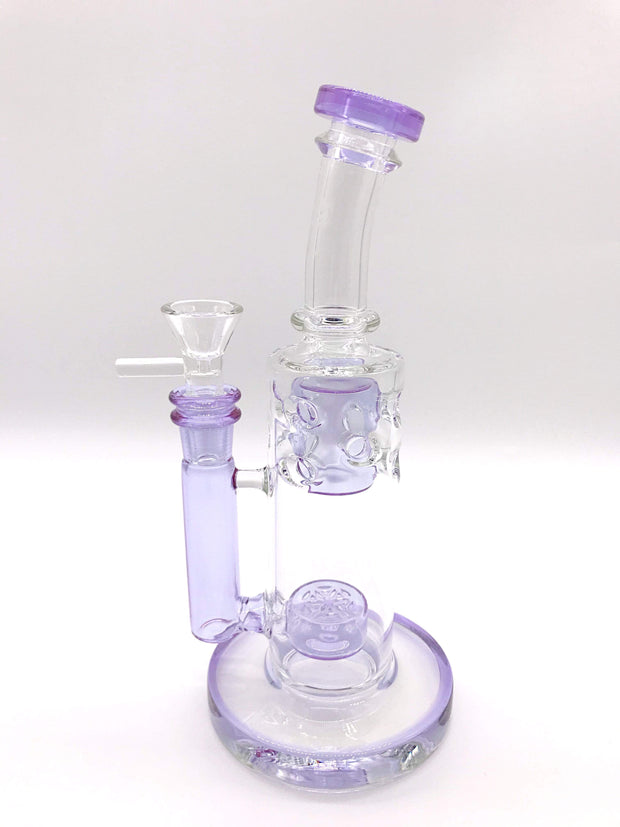 Smoke Station Water Pipe Purple Flower of Life Mini-Fab Water Pipe