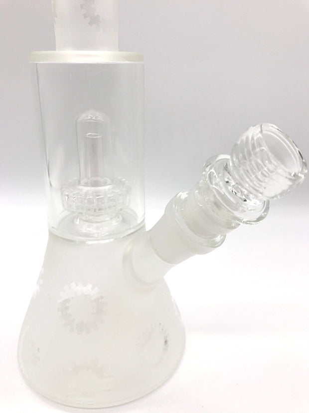 Smoke Station Water Pipe Frosted Glass Beaker with Perc