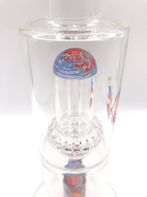 Smoke Station Water Pipe Glass Lab 303 Elite Series DOUBLE WIG WAG DUAL PERC WATER PIPE