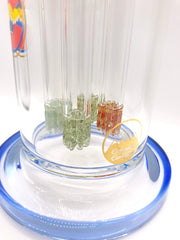 Smoke Station Water Pipe Glass Lab 303 Quad Frit Perc American Rig