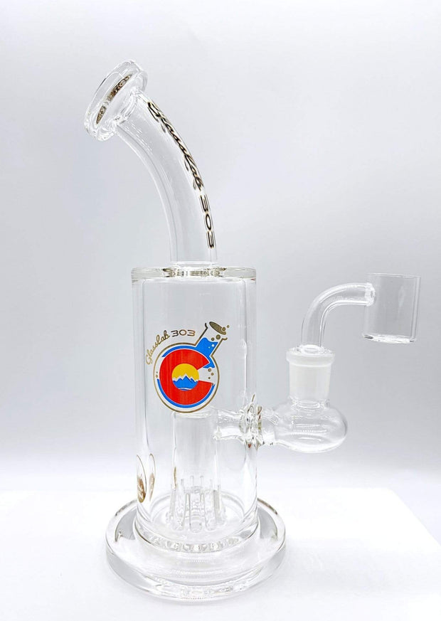 Smoke Station Water Pipe Sequoia Perc GlassLab 303 American Borosilicate Rig