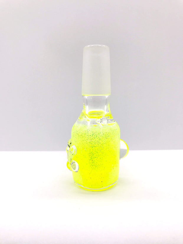 Smoke Station Waterpipe Bowl Yellow Glycerin Gel Waterpipe Bowl with Neon Glitter - 14mm