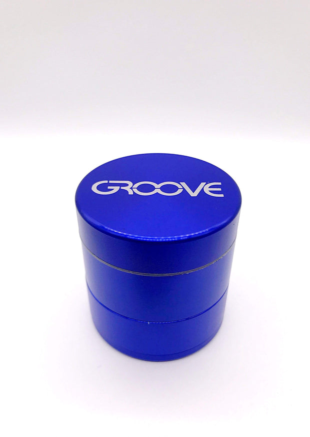 Smoke Station Accessories Blue / 50mm Groove 4 Piece Metal Grinder