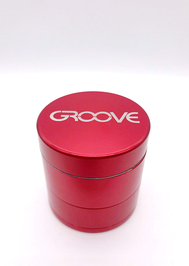 Smoke Station Accessories Red / 50mm Groove 4 Piece Metal Grinder