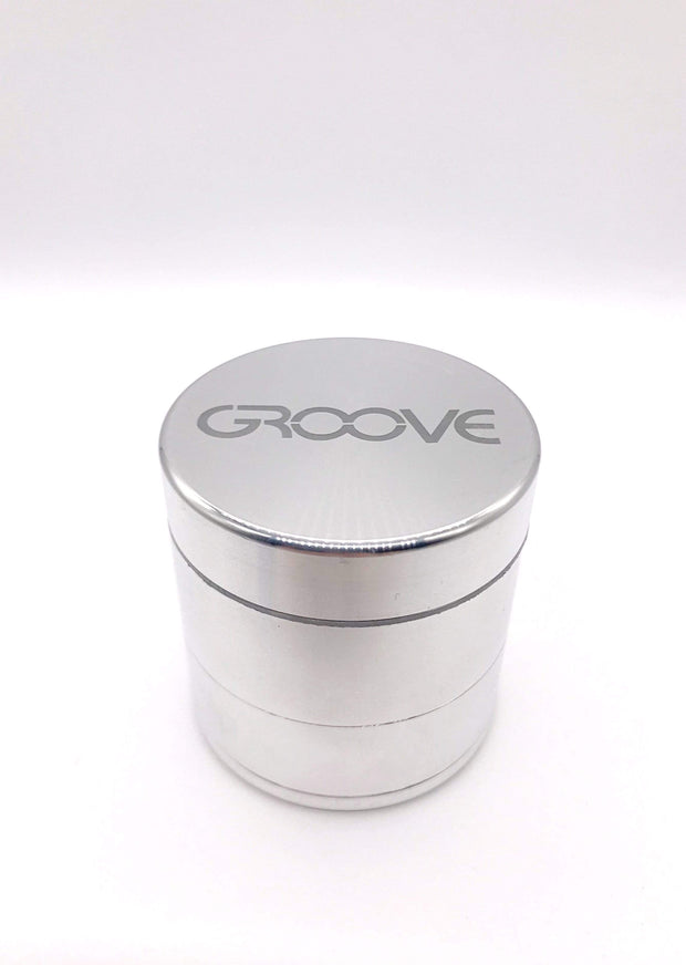 Smoke Station Accessories Silver / 50mm Groove 4 Piece Metal Grinder