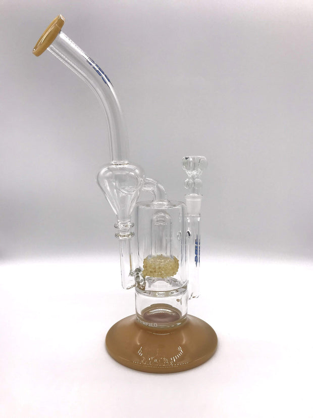 Smoke Station Water Pipe HBG American Fritted UV Perc Rig