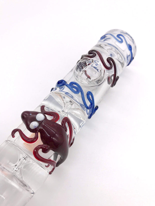 Smoke Station Hand Pipe Red-Lyzard Heady Thick Steamroller Hand Pipe