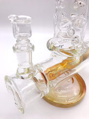 Smoke Station Water Pipe High Caliber American Gold Fumed Inline Perc Tube