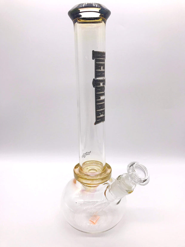 Smoke Station Water Pipe High Caliber American Gold Fumed Round Bottom Beaker