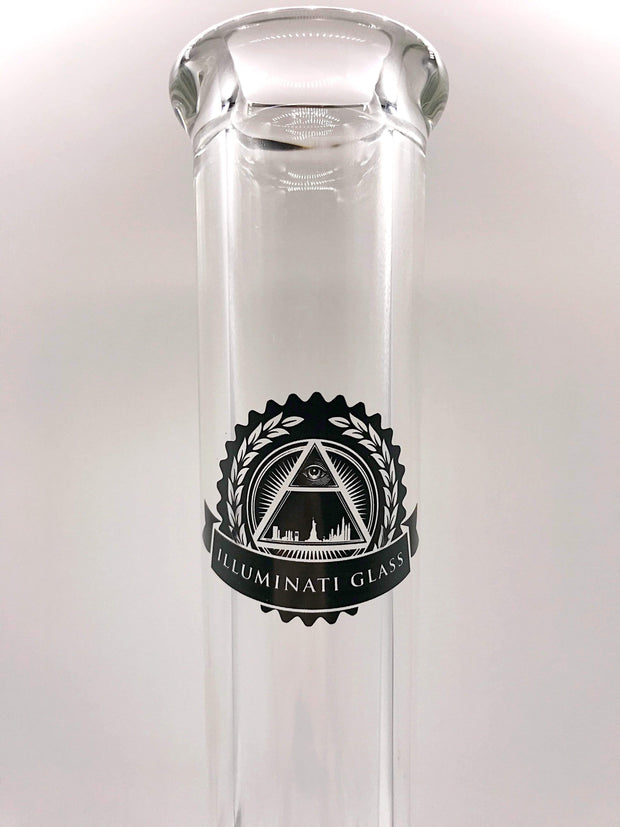 Smoke Station Water Pipe Illuminati Glass 9mm Thick American Straight Tube