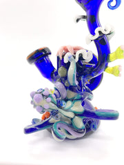 Smoke Station Water Pipe Jahni Glass Hand-Blown Undersea Octopus Rig