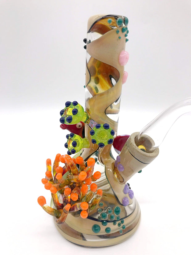 Smoke Station Water Pipe Jahni Glass Original American Coral Sea Rig