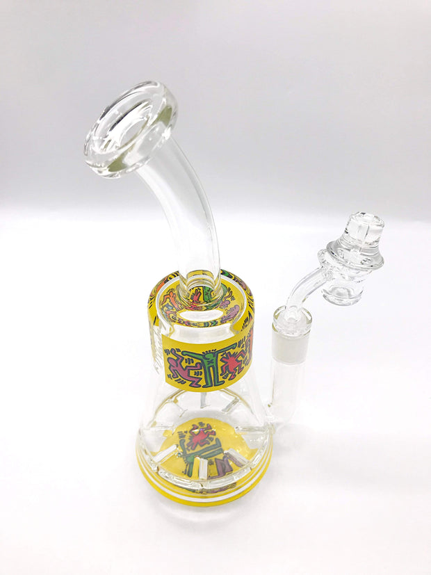 Smoke Station Water Pipe Keith Haring Tornado Perc Rigs
