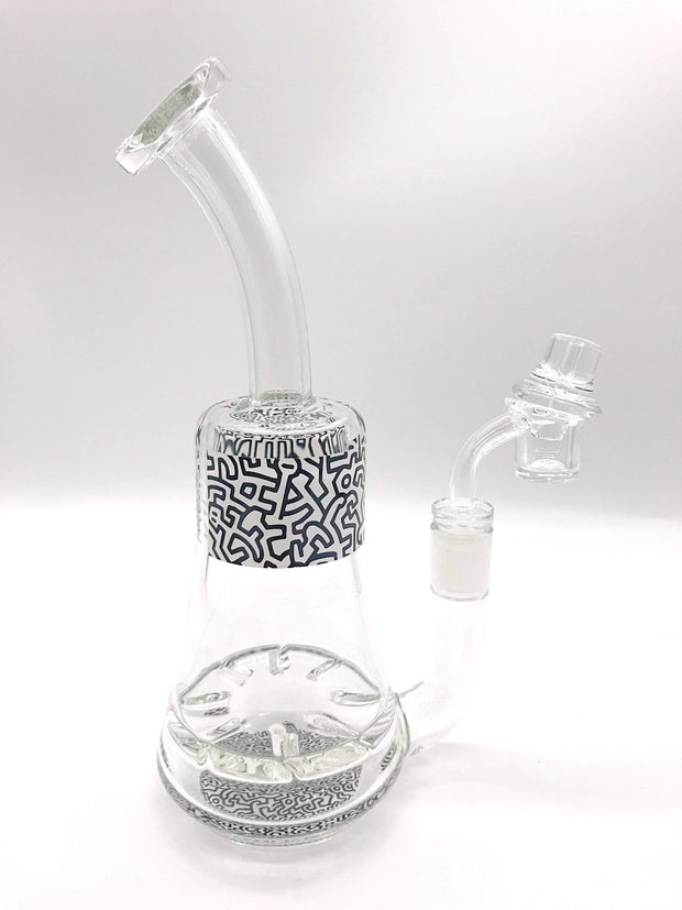 Smoke Station Water Pipe Black Keith Haring Tornado Perc Rigs