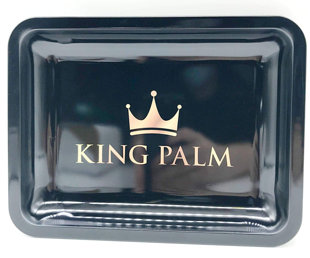 Smoke Station Accessories Black (10in x 7.5in) King Palm Rolling Tray