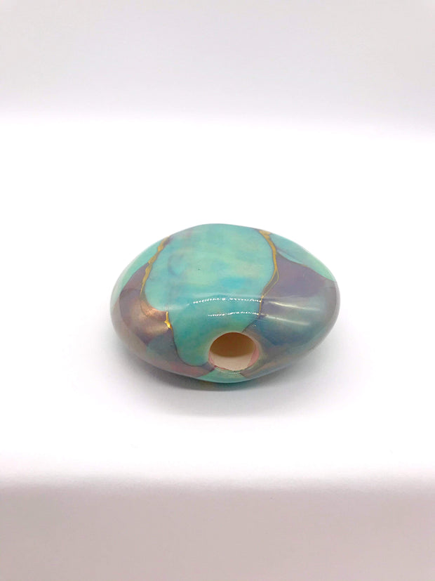 Smoke Station Hand Pipe Marble Ceramic Stone Pipe Hitter