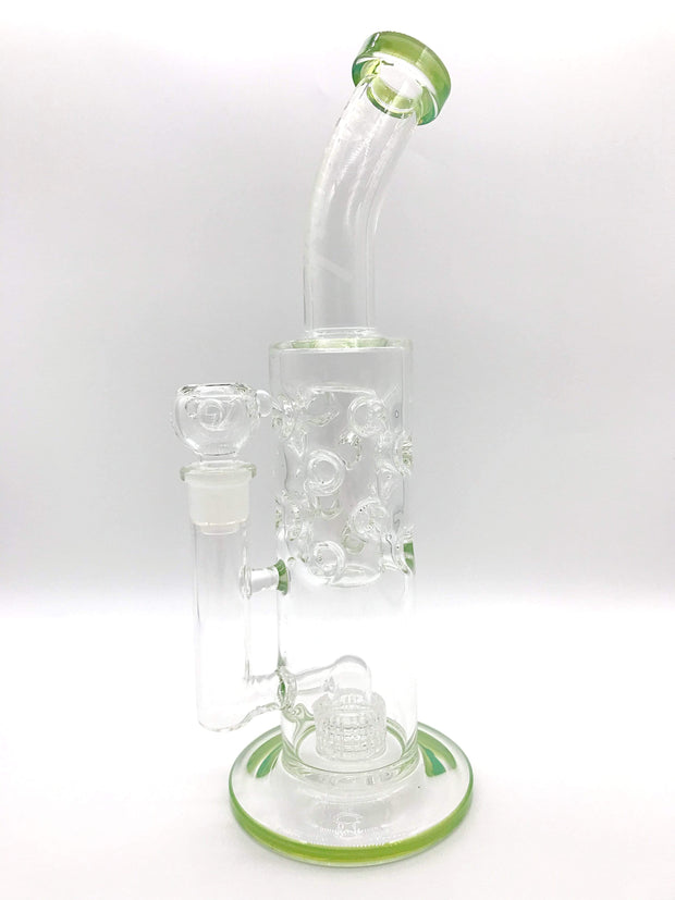 Smoke Station Water Pipe Mint Monark 9mm Thick Tube with Matrix and Faberge Percs