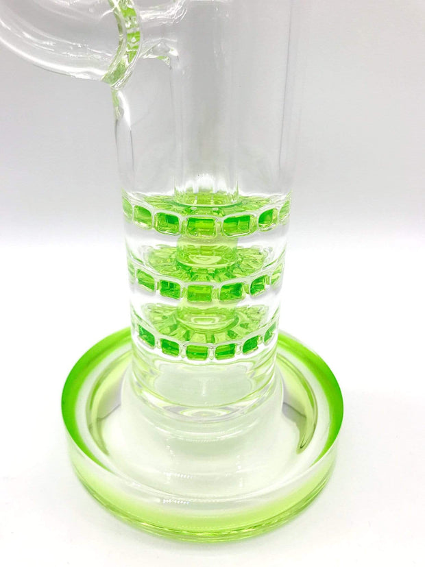"Smoke Station Water Pipe Monark Cobble Perc Triple Stack Water Pipe (14"" tall 14mm)"