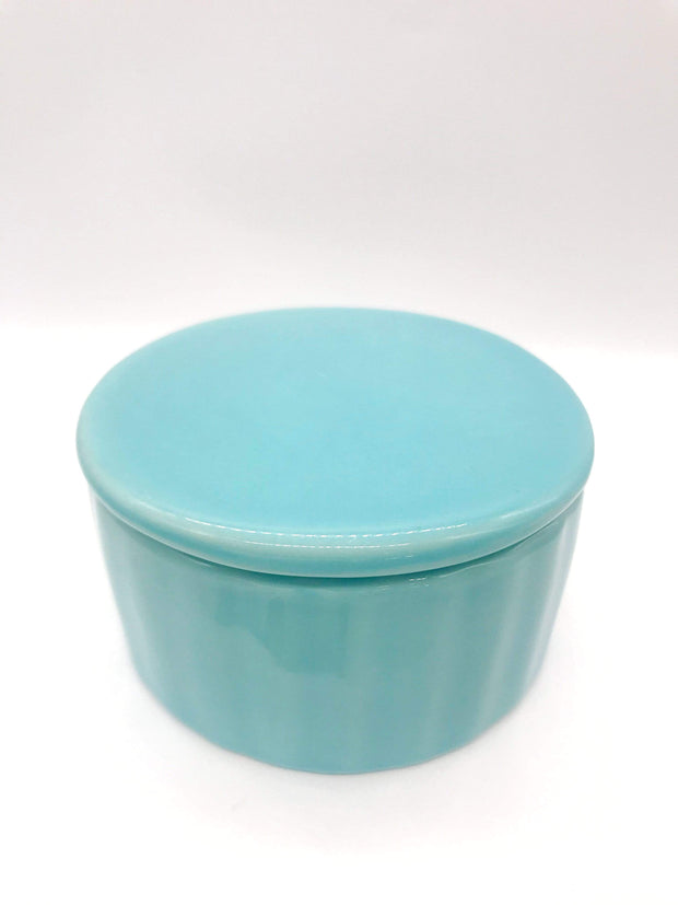 Smoke Station Accessories Teal My Bud Vase™ ⚪ Round Ceramic Stash Jars