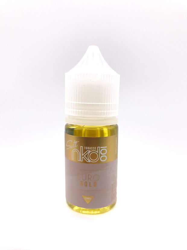 Smoke Station Juice Euro Gold / 50mg Naked 100 Salt Nicotine E-Juice - 50mg
