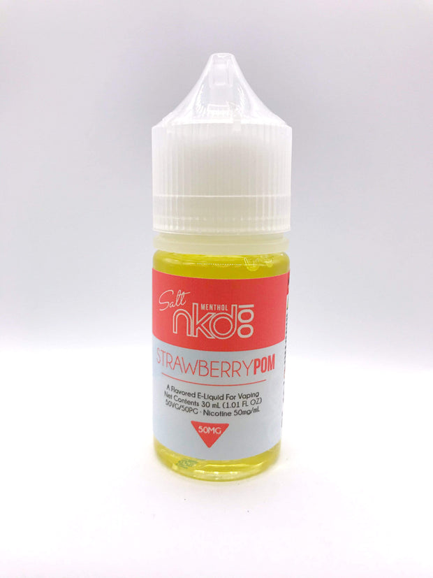 Smoke Station Juice Strawberry Pom / 50mg Naked 100 Salt Nicotine E-Juice - 50mg