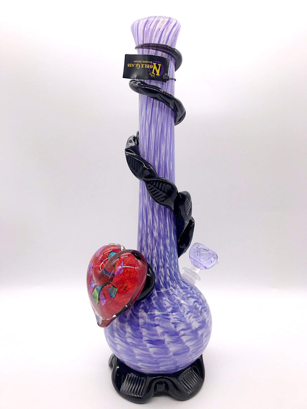 Smoke Station Water Pipe Red Heart Purple Pipe Noble Glass Heart Collection American Water Pipes