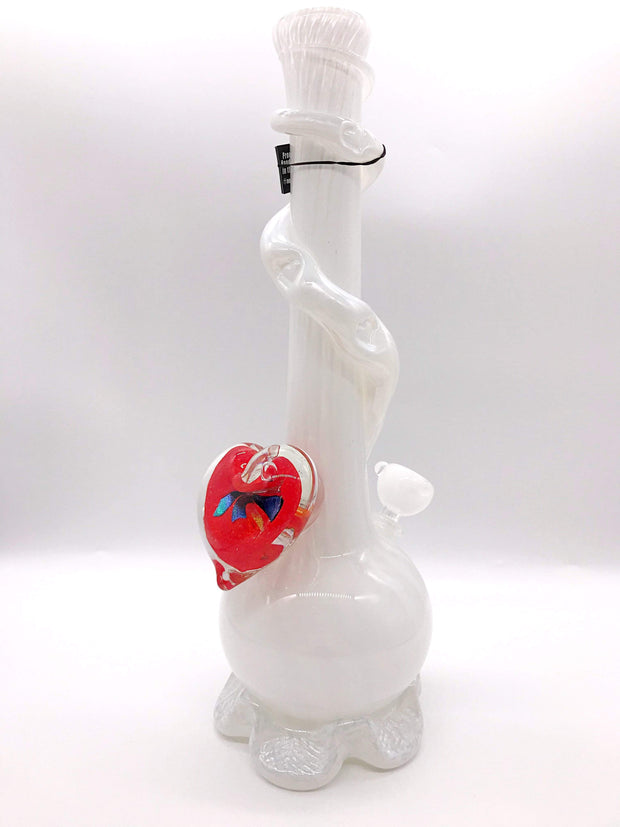 Smoke Station Water Pipe Red Heart Noble Glass Heart Collection American Water Pipes