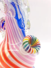 Smoke Station Water Pipe Rainbow Noble Glass Rainbow Cane American Soft Glass Water Pipe