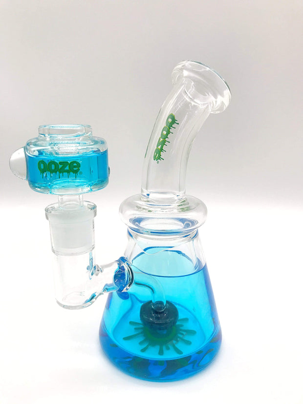 Smoke Station Water Pipe Blue Ooze Freezable Glycerin Rig