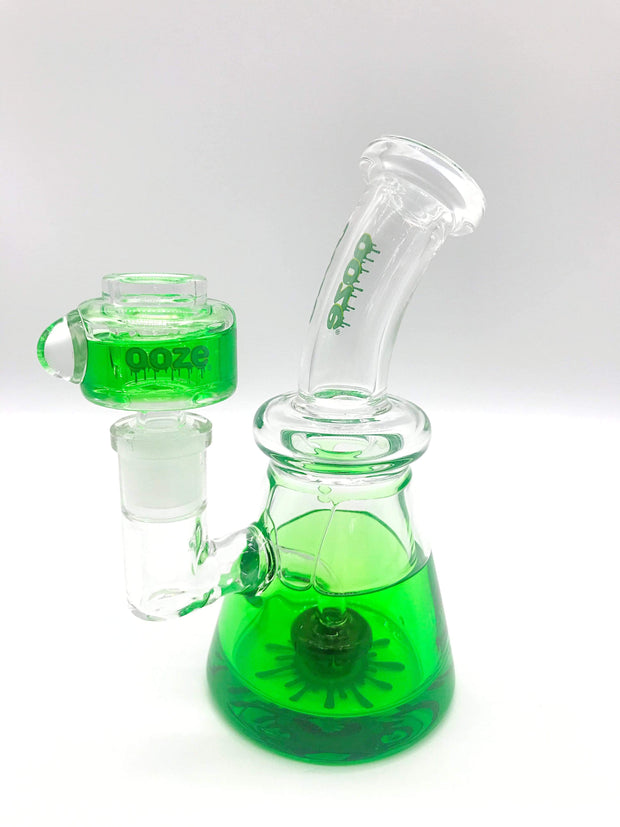 Smoke Station Water Pipe Green Ooze Freezable Glycerin Rig