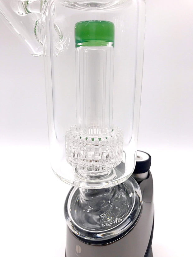 Smoke Station Water Pipe Puffco Peak Glass Sidecar Attachment with Matrix Perc