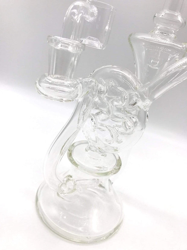 Smoke Station Water Pipe Clear Pulsar recycler swiss rig