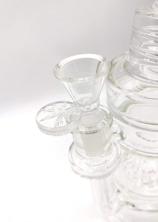 Smoke Station Water Pipe Clear Pulsar Scientific Bent Neck Water Pipe with Stovetop Burner Perc