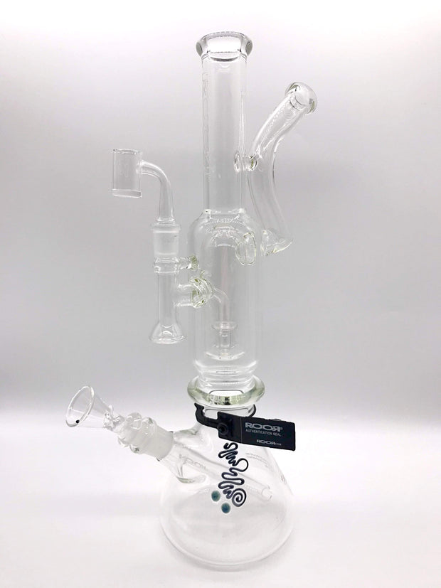Smoke Station Water Pipe ROOR 2-in-1 Water Pipe for Flower and Wax Rig