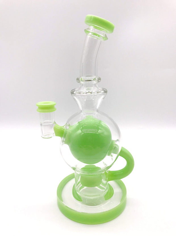 Smoke Station Water Pipe Green Seed of Life Ball Rig