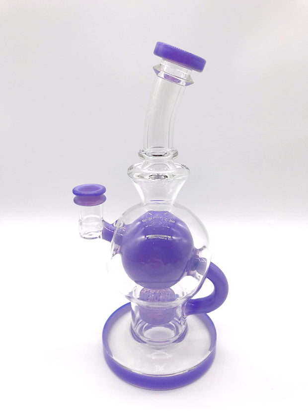 Smoke Station Water Pipe Purple Seed of Life Ball Rig