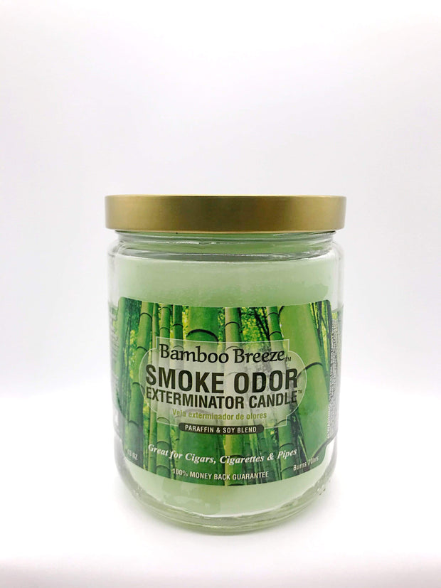 Smoke Station Accessories Bamboo Breeze Smoke Exterminator Candle