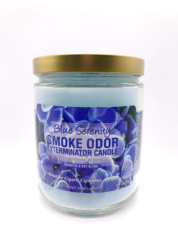 Smoke Station Accessories Blue Serenity Smoke Exterminator Candle