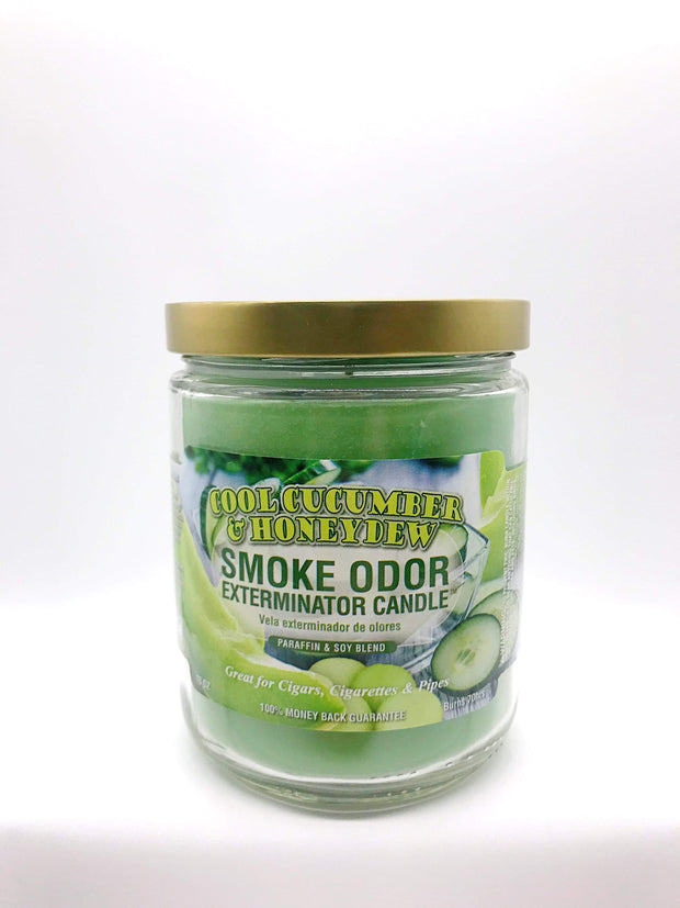Smoke Station Accessories Cool Cucumber Honeydew Smoke Exterminator Candle
