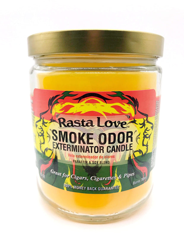 Smoke Station Accessories Rasta Love Smoke Exterminator Candle