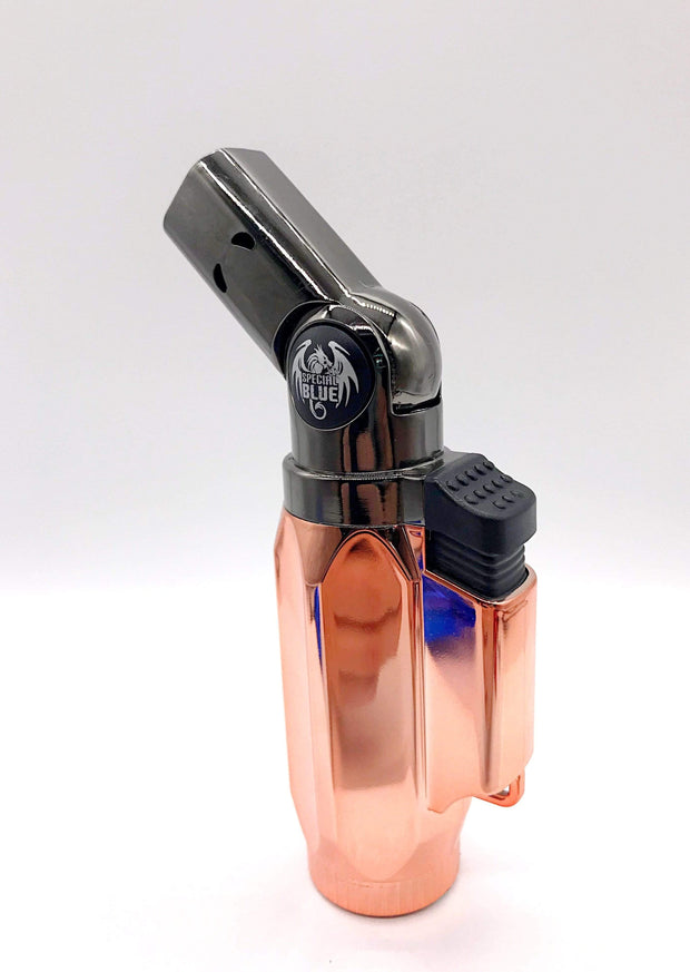 Smoke Station Accessories Rose Special Blue Butane Torch Lighter