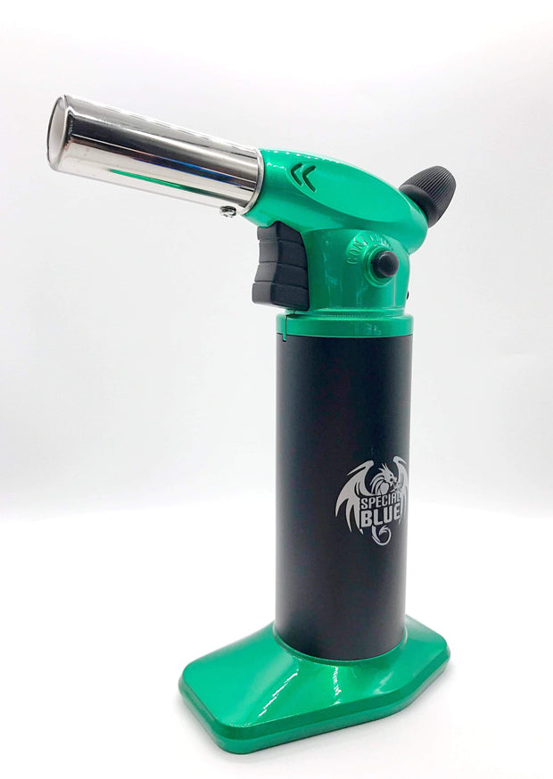 "Smoke Station Accessories Green Special Blue ""Toro"" Butane Torch"