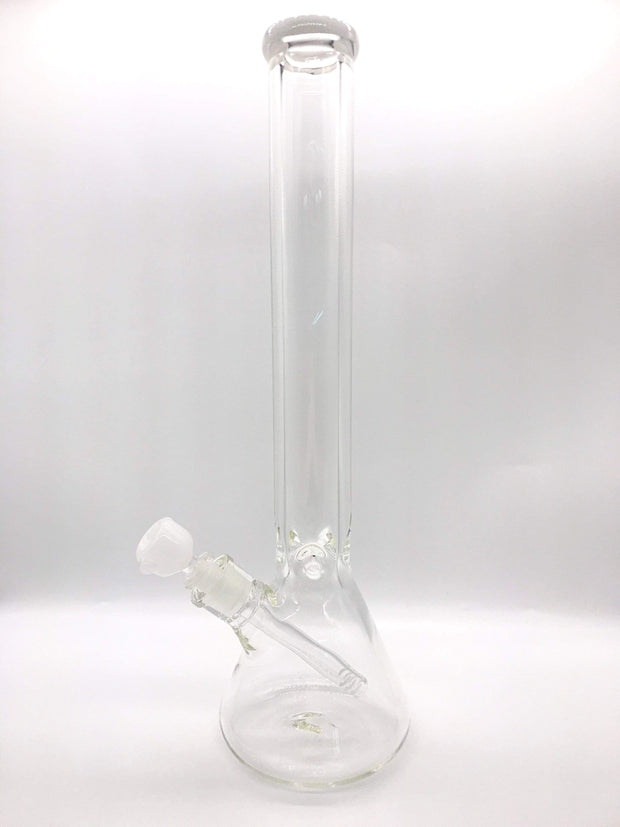 "Smoke Station Water Pipe White Thick American BeakerWater Pipe (18"" 9mm)"