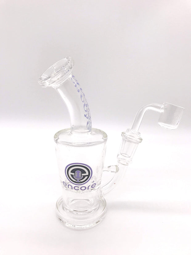 Smoke Station Water Pipe Purple Thick Encore Tornado Perc Rig - Mini Size