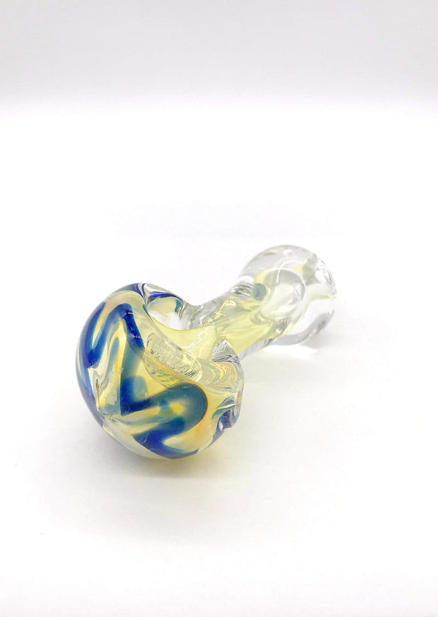 Smoke Station Hand Pipe Blue Thick Fumed Colored Peanut Spoon Hand Pipe