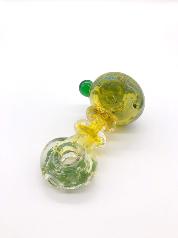 Smoke Station Hand Pipe Thick Fumed Neck Diffused Spoon with Flattened Mouthpiece Hand PIpe
