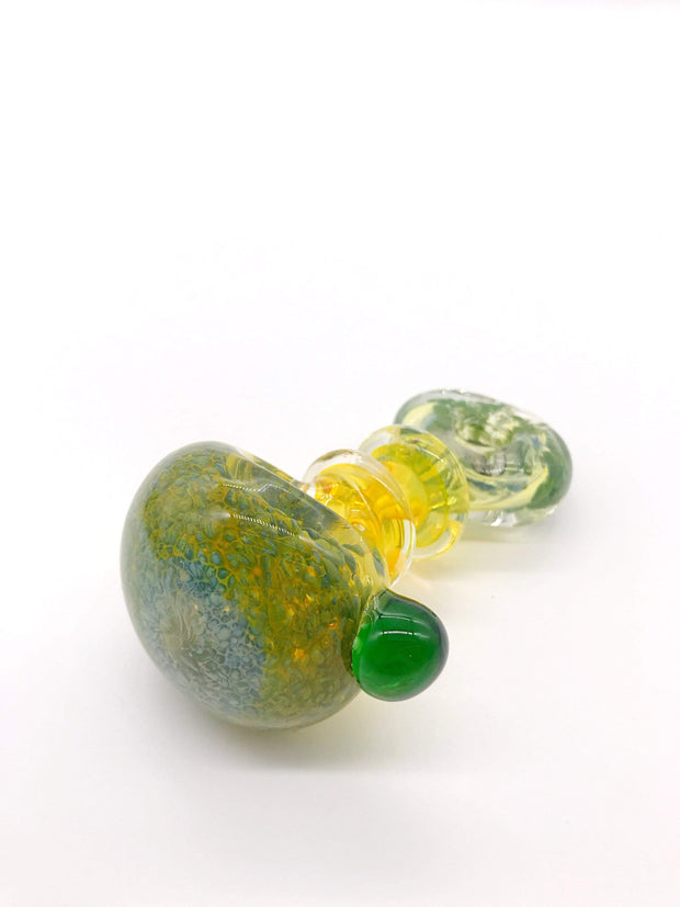Smoke Station Hand Pipe Style A5 Thick Fumed Neck Diffused Spoon with Flattened Mouthpiece Hand PIpe